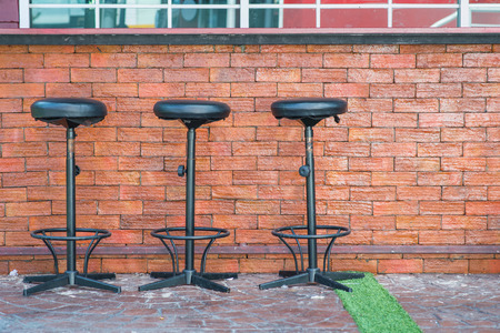 Outdoor Bar counter and Bar stools photo