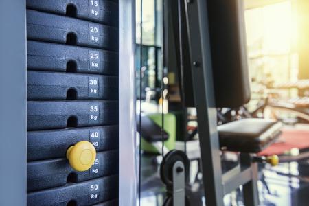 weight machine: gym weight machine  Amount of weight on lifting machine