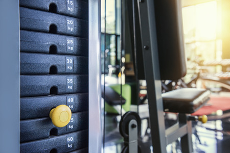 weight machine: gym weight machine  Amount of weight on lifting machine