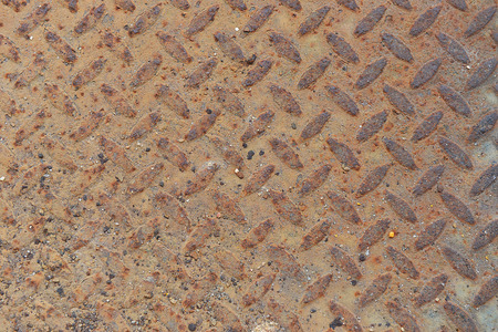 old metal diamond plate with white paint on surface Stock Photo