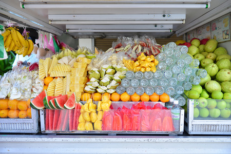 Fruits in car shop photo