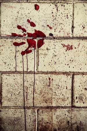 bloodstain: Bloodstain of suffering on wall