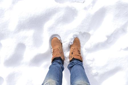hillwalking: standing on snow
