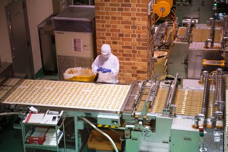 Japan, Sapporo-DEC 08: Ishiya, chocolate factory on DEC 08, 2014 in Hokkaido. The company's flagship product is the Shiroi Koibito cookie