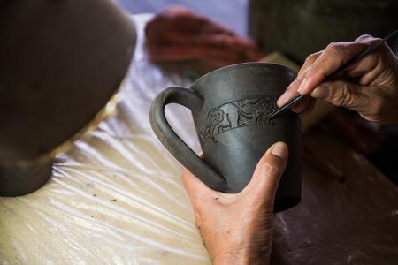 earthenware: carving earthenware
