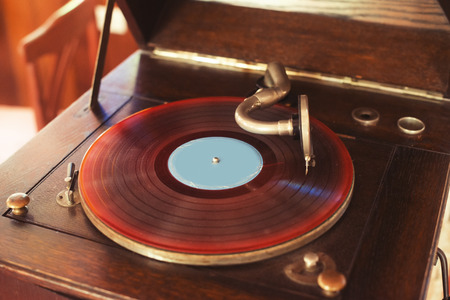 phonograph: Old phonograph and gramophone records