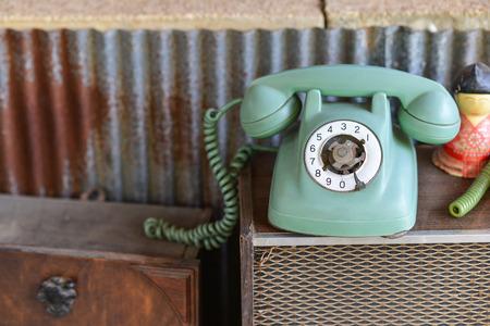 Gebroken retro telefoon