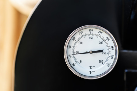 Circle thermometer, temperature Stock Photo