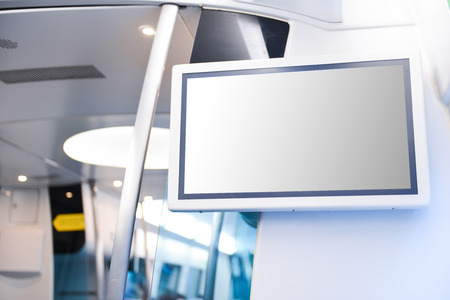 LCD Screen on train
