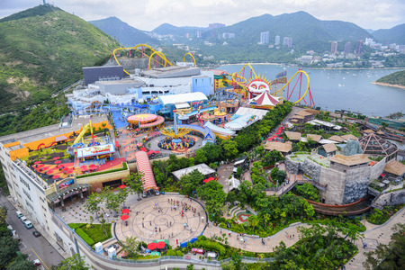 OCEAN PARK, HONGKONG - JUNE 11: The Landscape of All area at Ocean Park, The wondeful Anusement park in Hong Kong on JUNE 11, 2015. Editorial