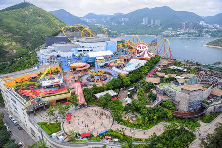 OCEAN PARK, HONGKONG - JUNE 11: The Landscape of All area at Ocean Park, The wondeful Anusement park in Hong Kong on JUNE 11, 2015. Editoriali