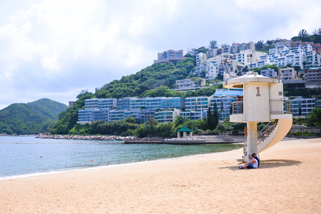 repulse: HONG KONG - JUN 12: Repulse Bay, is a bay in the southern part of Hong Kong Island and nearly Kwun Yim Shrine is a Taoist shrine at the southeastern end of Repulse Bay on June 12, 2015.