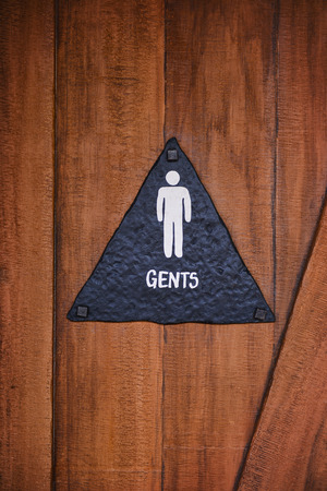 public restroom: Public restroom sign for male Stock Photo