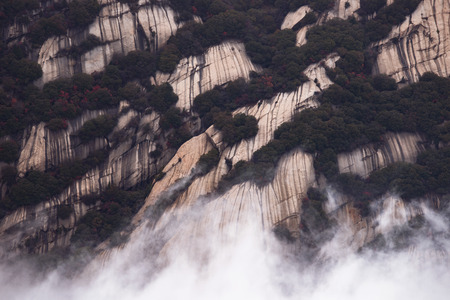 dangerous love: Huashan mountain. The highest of China's five sacred mountains, called the West Mountain,well known for steep trails, breath-taking cliffs, narrow passages, and grand scenery