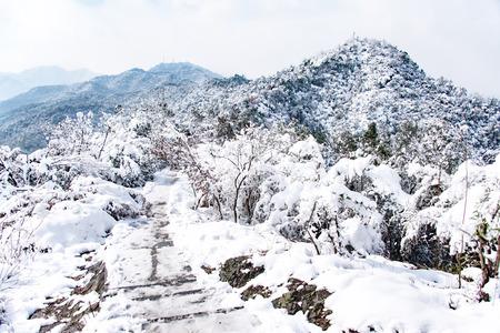 powder snow: powder snow mountain in China