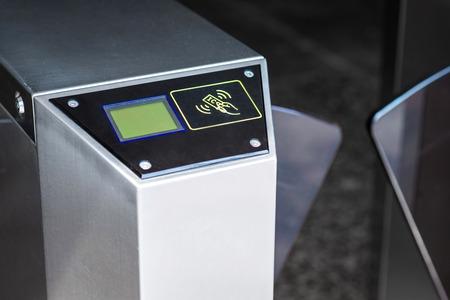 Entrance machine gate: scan card