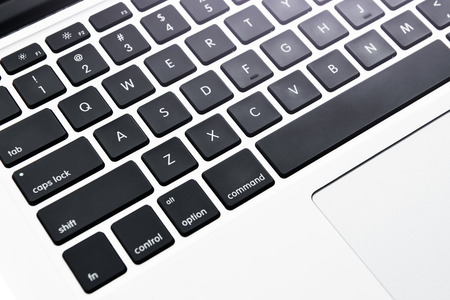 relation: Closeup picture of modern keyboard.