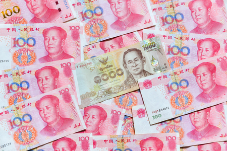 rmb: Yuan or RMB, Chinese Currency and Thai baht