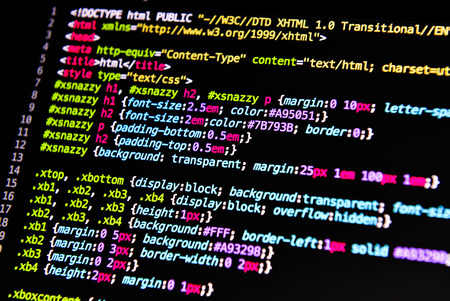 computer language source code Stock Photo
