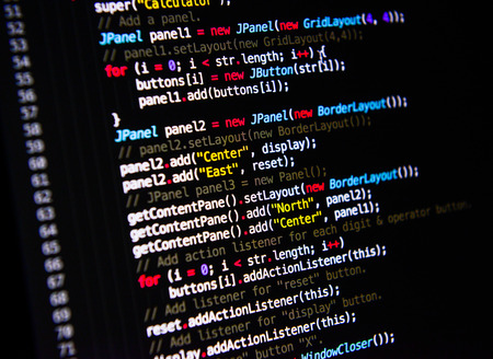source: computer language source code Stock Photo