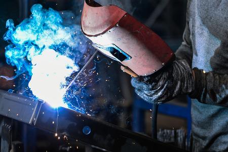 fabricator: Arc welding of a steel in factory
