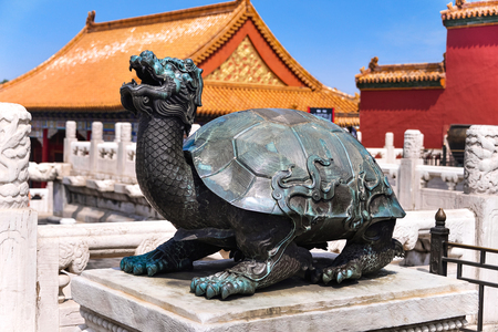 prowess: Bronze tortoise in Forbidden City, Beijing, China. Editorial