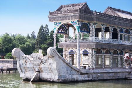 Marble boat at Summer Palace, Beijing, China
