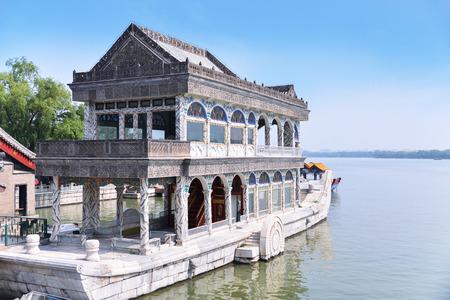 marble palace: Marble boat at Summer Palace, Beijing, China