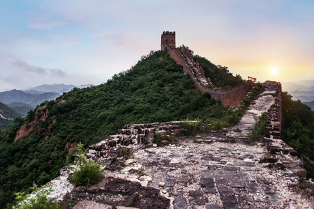 The Great wall of China: 7 wonder of the world.