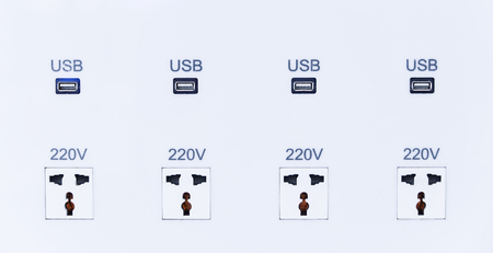 plug socket: plug socket with built in USB charger