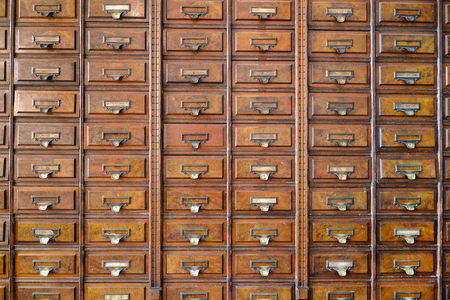 drawers: Vintage wooden drawers Stock Photo