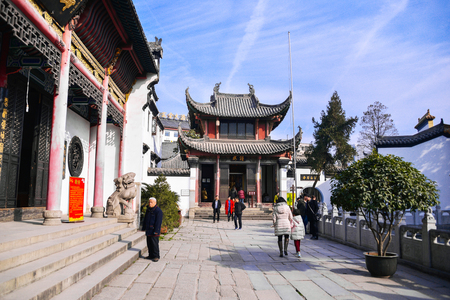 WUHAN, China - JAN 24, 2017: Guiyuan Temple  s a Buddhist temple located on Wuhan City, Hubei Province of China. It was built in the 15th year of Shunzhi (1658), Qing Dynasty. Editorial