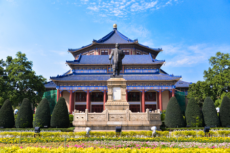 The Sun Yat-Sen Memorial Hall is an octagon-shaped building in Guangzhou,Guangdong,China. Sun Yat-Sen was a revolutionary and political leader. As Sun is Founding Father of Republican China.
