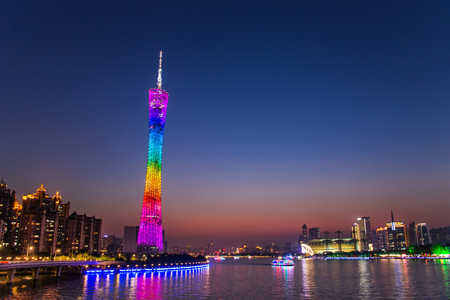 Guangzhou Tower or Canton tower, formally Guangzhou TV Astronomical and Sightseeing Tower is a 595.7 metres tall multi-purpose observation tower in Guangzhou. Editorial