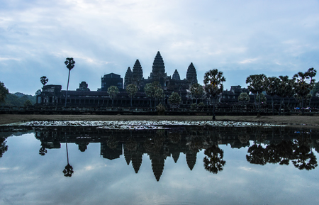 Angkor Wat is a temple complex in Cambodia and the largest religious monument in the world Editorial