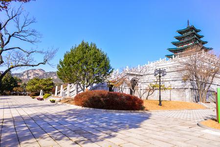 SEOUL, SOUTH KOREA - NOV 14, 2017 : National Folk Museum of Korea located in Seoul, South Korea Editorial