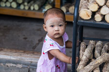 MANDALAY, MYANMAR - JUL 18, 2018: The way of people life in myanmar. The authentical culture of society.
