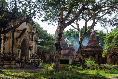 The environment of temples in old Bagan, Myanmar Banco de Imagens