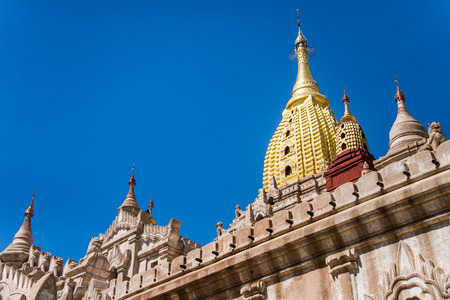 Ananda Temple in Old Bagan, Myanmar, s one of Bagans best known and most beautiful temples. Stock Photo
