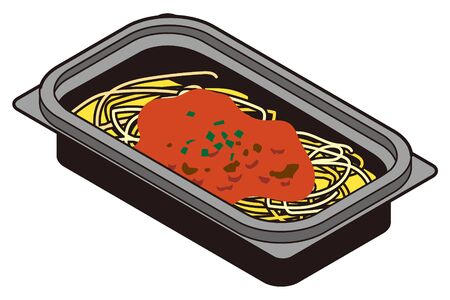 Japanese meat sauce pasta lunch box-