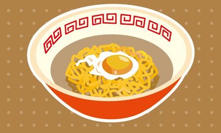 Japanese instant noodles with eggs