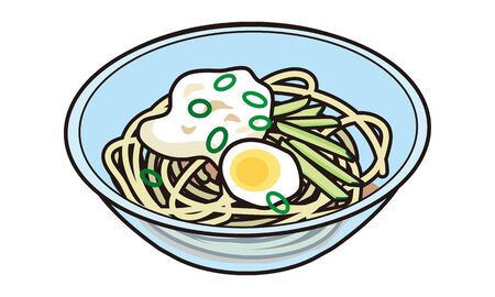 Cold tororo soba lunch to take home in Japan