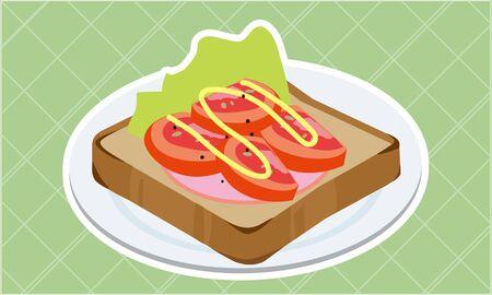 Tomato and ham toast