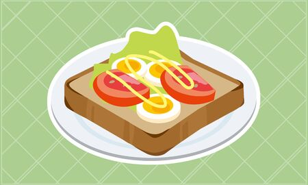 Boiled egg and tomato toast