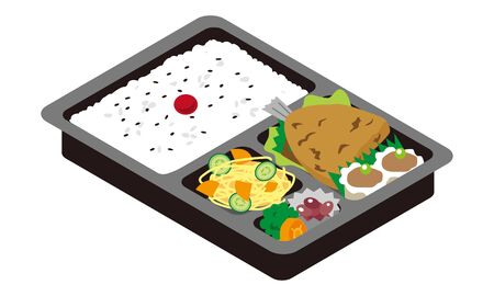 Fried horse mackerel bento for take-out sale