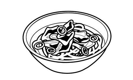 Japanese style warm meat udon