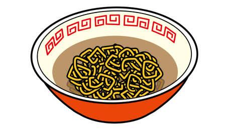 A Japanese warm instant noodles