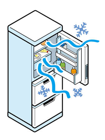 Refrigerator whose inside is too cold