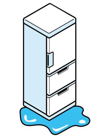 Refrigerator leaking water on the floor