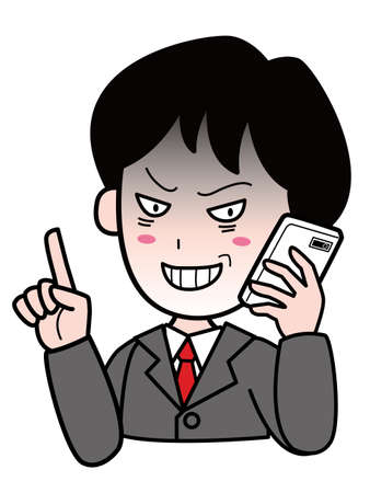 A suspicious man in a  suit talking on a mobile phone 版權商用圖片 - 156503687